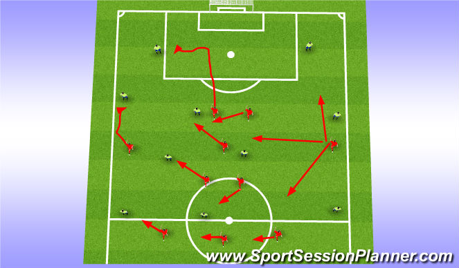 Football/Soccer Session Plan Drill (Colour): Press 3-5-2