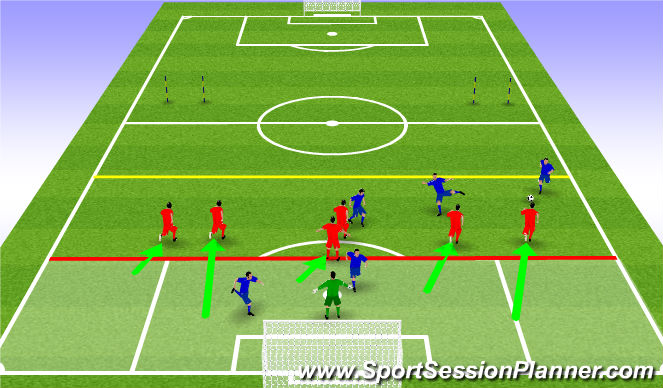 Football/Soccer Session Plan Drill (Colour): Phase 1 example