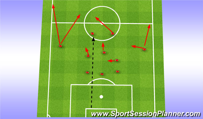 Football/Soccer Session Plan Drill (Colour): Long