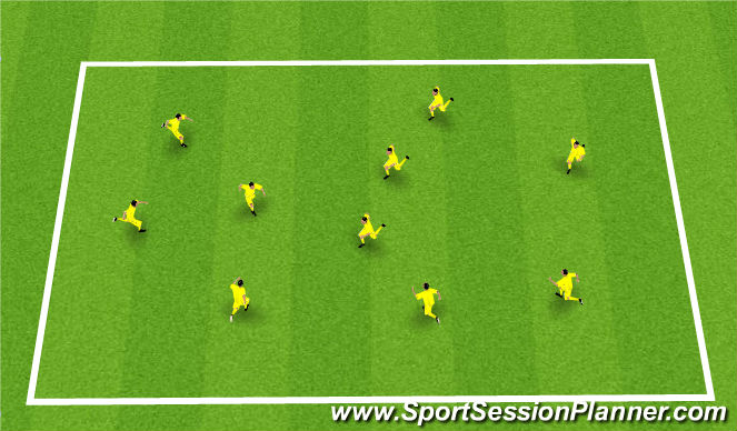 Football/Soccer Session Plan Drill (Colour): Tiger Tails