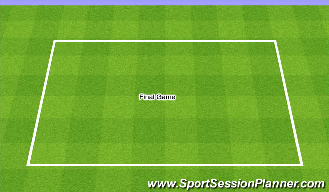 Football/Soccer Session Plan Drill (Colour): Final Game 20 minutes