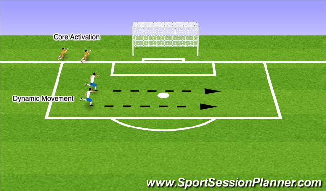 Football/Soccer Session Plan Drill (Colour): Core & Movement Activation