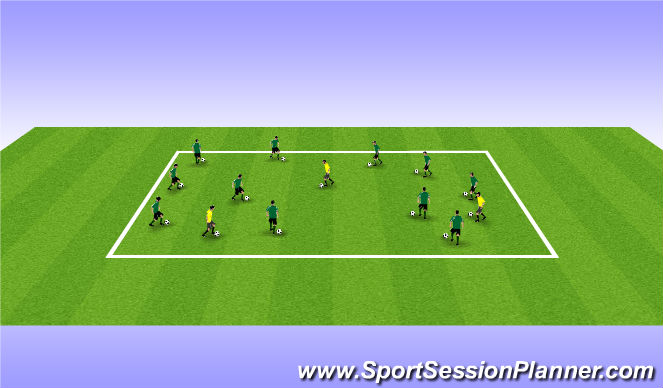 Football/Soccer Session Plan Drill (Colour): Free Style