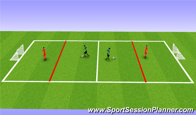 Football/Soccer Session Plan Drill (Colour): 1 v 1 tourney