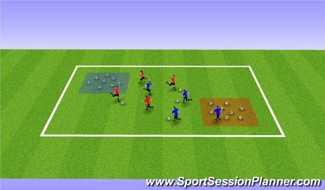 Football/Soccer Session Plan Drill (Colour): Robber Wars