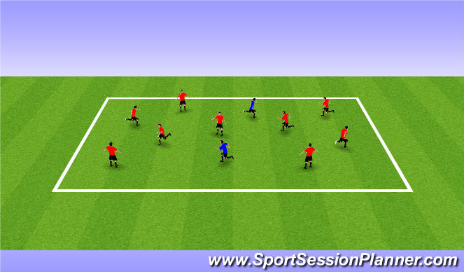 Football/Soccer Session Plan Drill (Colour): Mud Monster
