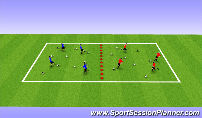 Football/Soccer Session Plan Drill (Colour): Clean Your Room!