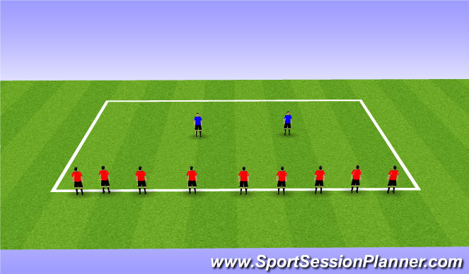 Football/Soccer Session Plan Drill (Colour): Crocodiles and Bees