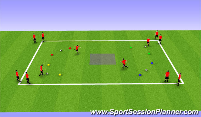 Football/Soccer Session Plan Drill (Colour): In the Box