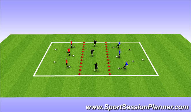 Football/Soccer Session Plan Drill (Colour): Frogger