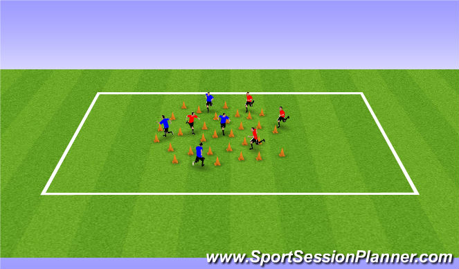 Football/Soccer Session Plan Drill (Colour): Builders and Bulldozers