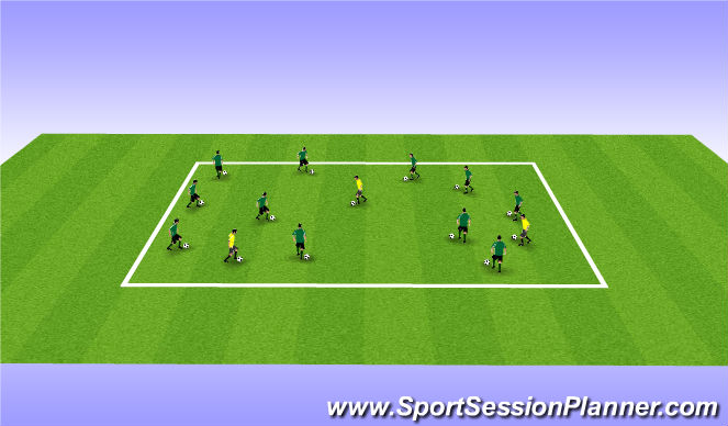 Football/Soccer Session Plan Drill (Colour): Free style juggling