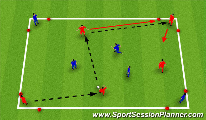 Football/Soccer Session Plan Drill (Colour): Keep the Ball