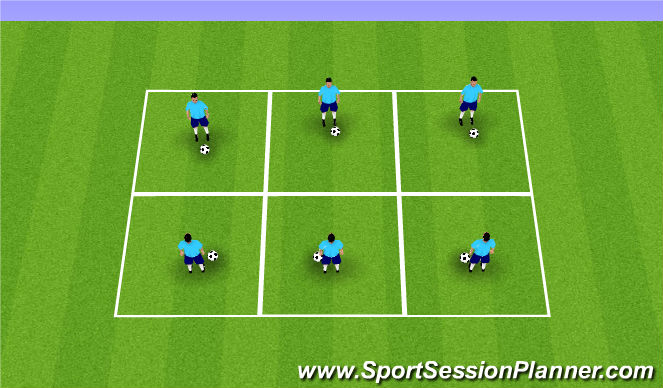 Football/Soccer Session Plan Drill (Colour): BMS Touches