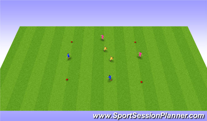 Football/Soccer Session Plan Drill (Colour): phase1