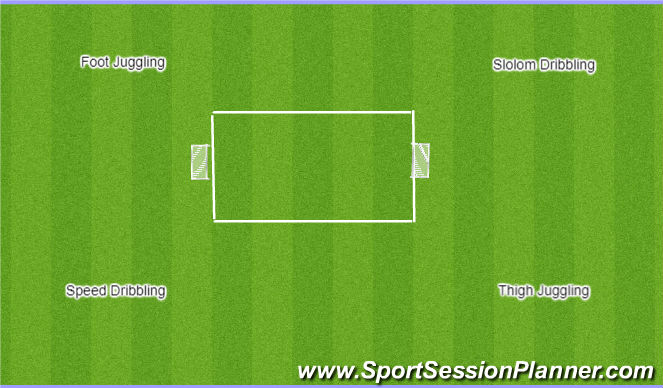 Football/Soccer Session Plan Drill (Colour): Game with Circuit