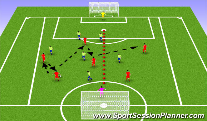 Football/Soccer Session Plan Drill (Colour): O-to-I game