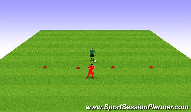 Football/Soccer Session Plan Drill (Colour): 1 v 1 tourney