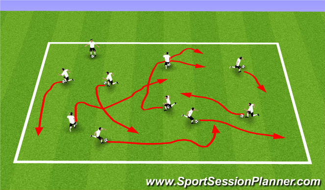 Football/Soccer Session Plan Drill (Colour): Skillz!
