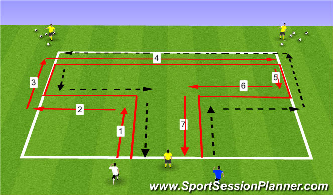 Football/Soccer Session Plan Drill (Colour): Soccer T