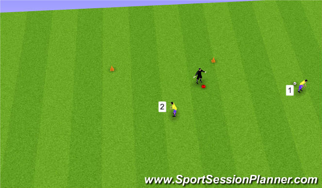 Football/Soccer Session Plan Drill (Colour): Simple Introduction