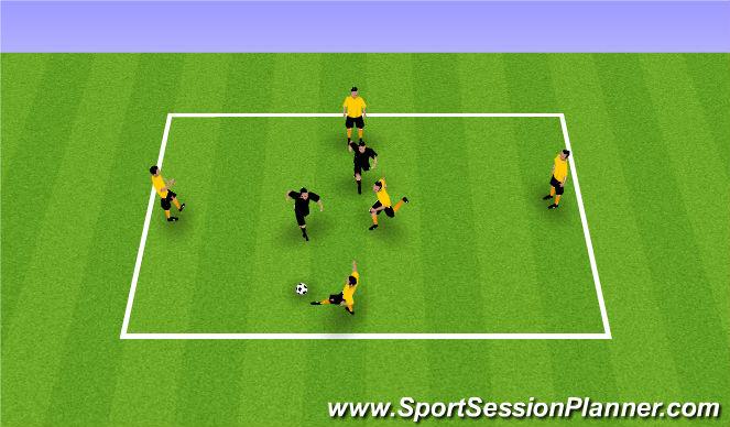 Football/Soccer Session Plan Drill (Colour): PP 4v2+1