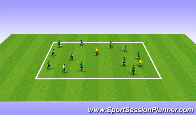 Football/Soccer Session Plan Drill (Colour): Free Style Lifts