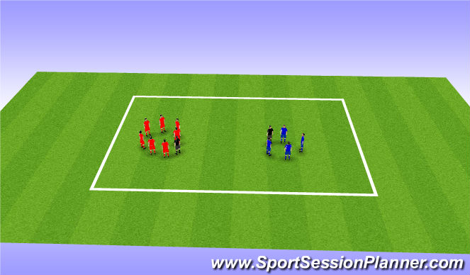 Football/Soccer Session Plan Drill (Colour): Think, Pair, Share