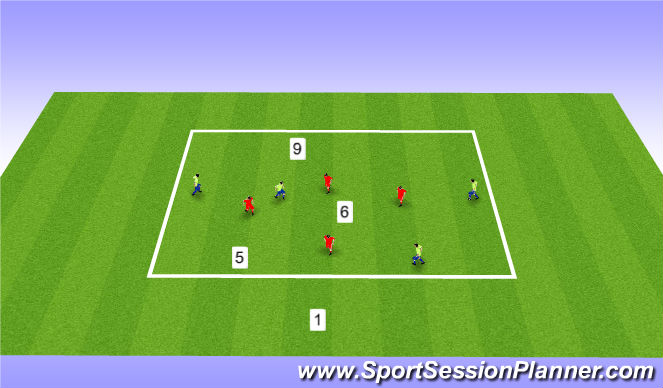 Football/Soccer Session Plan Drill (Colour): 4v4+4 pos play