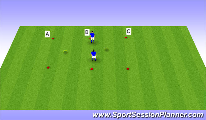 Football/Soccer Session Plan Drill (Colour): !st touch