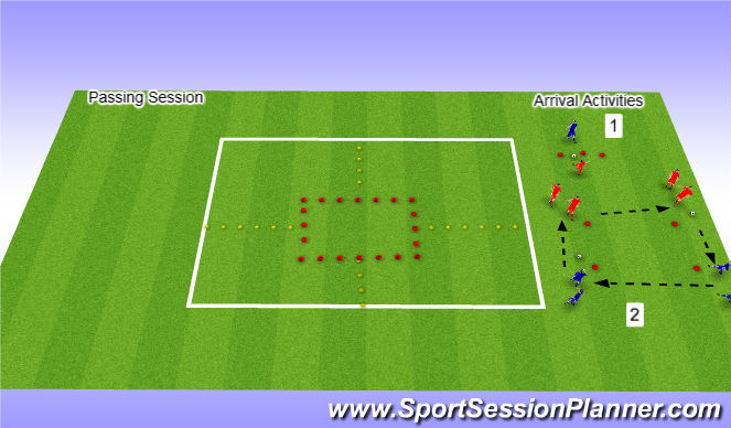 Football/Soccer Session Plan Drill (Colour): Arrival Activities