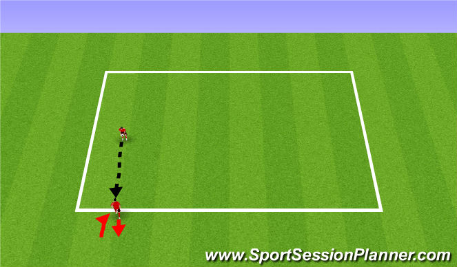 Football/Soccer Session Plan Drill (Colour): Shooting + Aerial Ball Progression