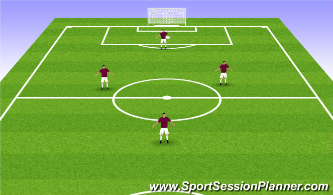 Football/Soccer Session Plan Drill (Colour): 4v4 (1-2-1)