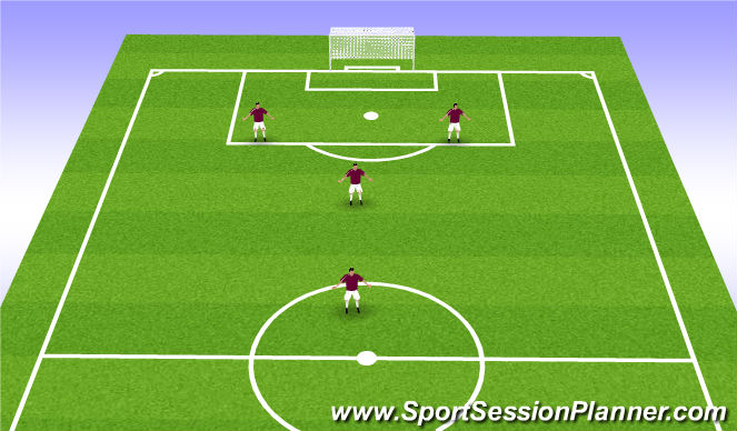 Football/Soccer Session Plan Drill (Colour): 4v4 (2-1-1)