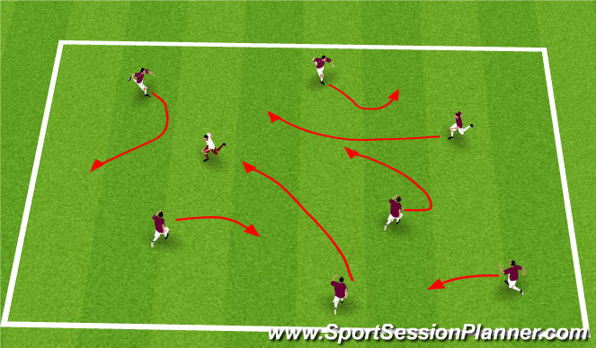 Football/Soccer Session Plan Drill (Colour): Spiderman/Spidergirl Tag