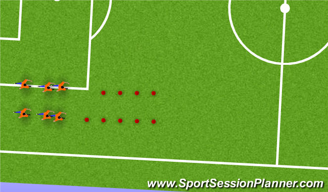 Football/Soccer Session Plan Drill (Colour): DYNAMIC WARM UP EVOLUTION 3