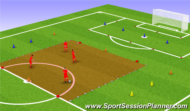 Football/Soccer Session Plan Drill (Colour): Arrival: Up and under challenge