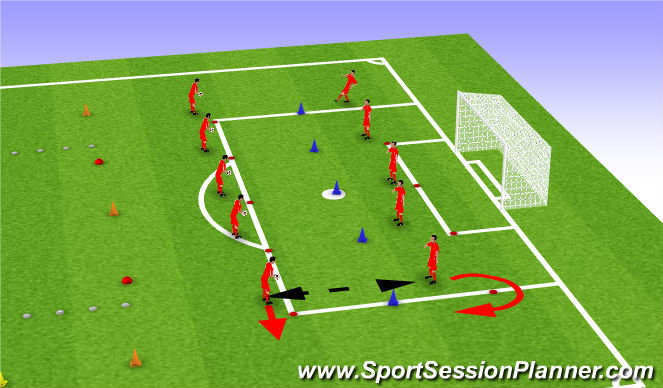 Football/Soccer Session Plan Drill (Colour): Skill: Ball control from height