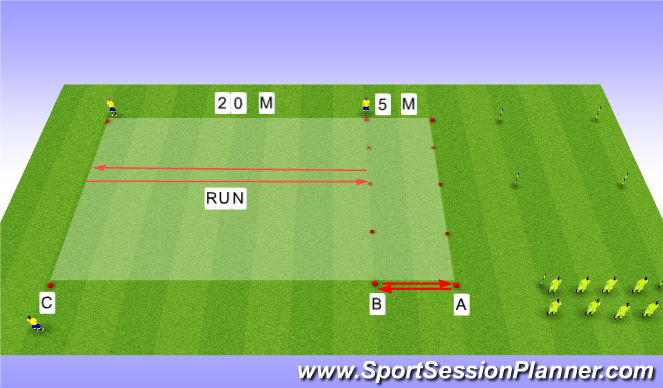 Football/Soccer Session Plan Drill (Colour): MP+Beep Test