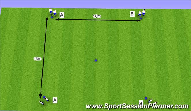 Football/Soccer Session Plan Drill (Colour): O10 - W37 (1) - H4 Halve draaien