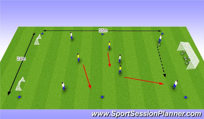 Football/Soccer Session Plan Drill (Colour): O10 - W38 (1) - Verstoren van de opbouw