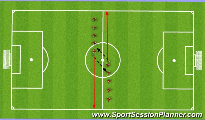 Football/Soccer Session Plan Drill (Colour): Warm Up Jog