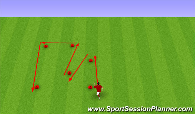 Football/Soccer Session Plan Drill (Colour): Agility/Speed Training
