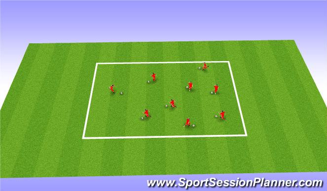 Football/Soccer Session Plan Drill (Colour): Footskills/Moves