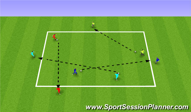 Football/Soccer Session Plan Drill (Colour): Find Your Partner