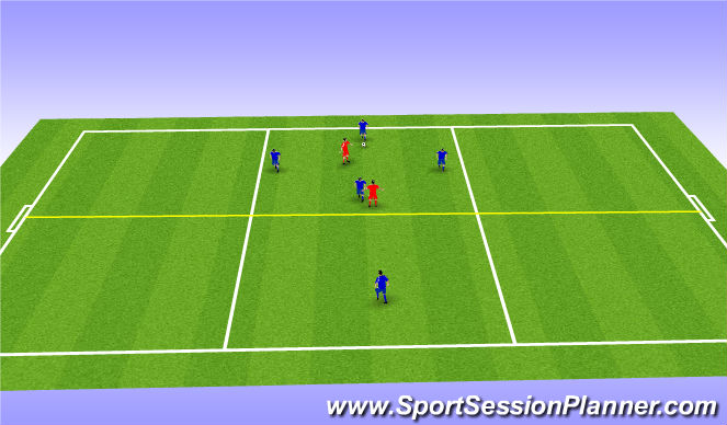 Football/Soccer Session Plan Drill (Colour): SSG (Tuesday)