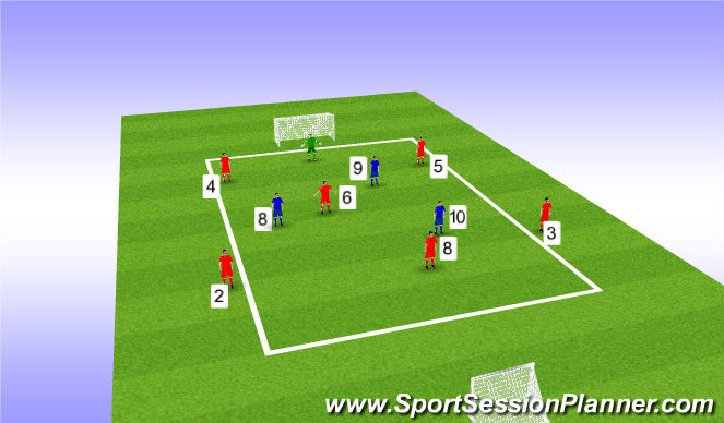 Football/Soccer Session Plan Drill (Colour): 2. DCG: Group Play