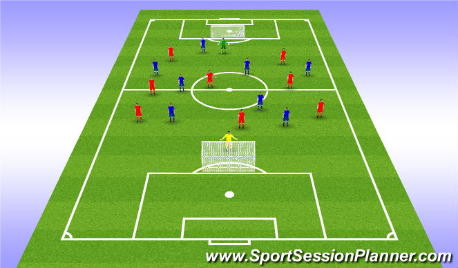 Football/Soccer Session Plan Drill (Colour): 2, DCG: Departing Game