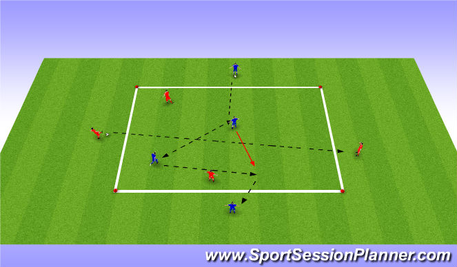 Football/Soccer Session Plan Drill (Colour): Passing Warm Up Variation 2