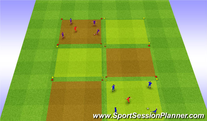 Football/Soccer Session Plan Drill (Colour): Moving Boxes